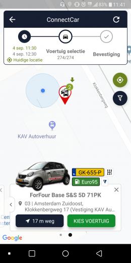 Vind uw auto